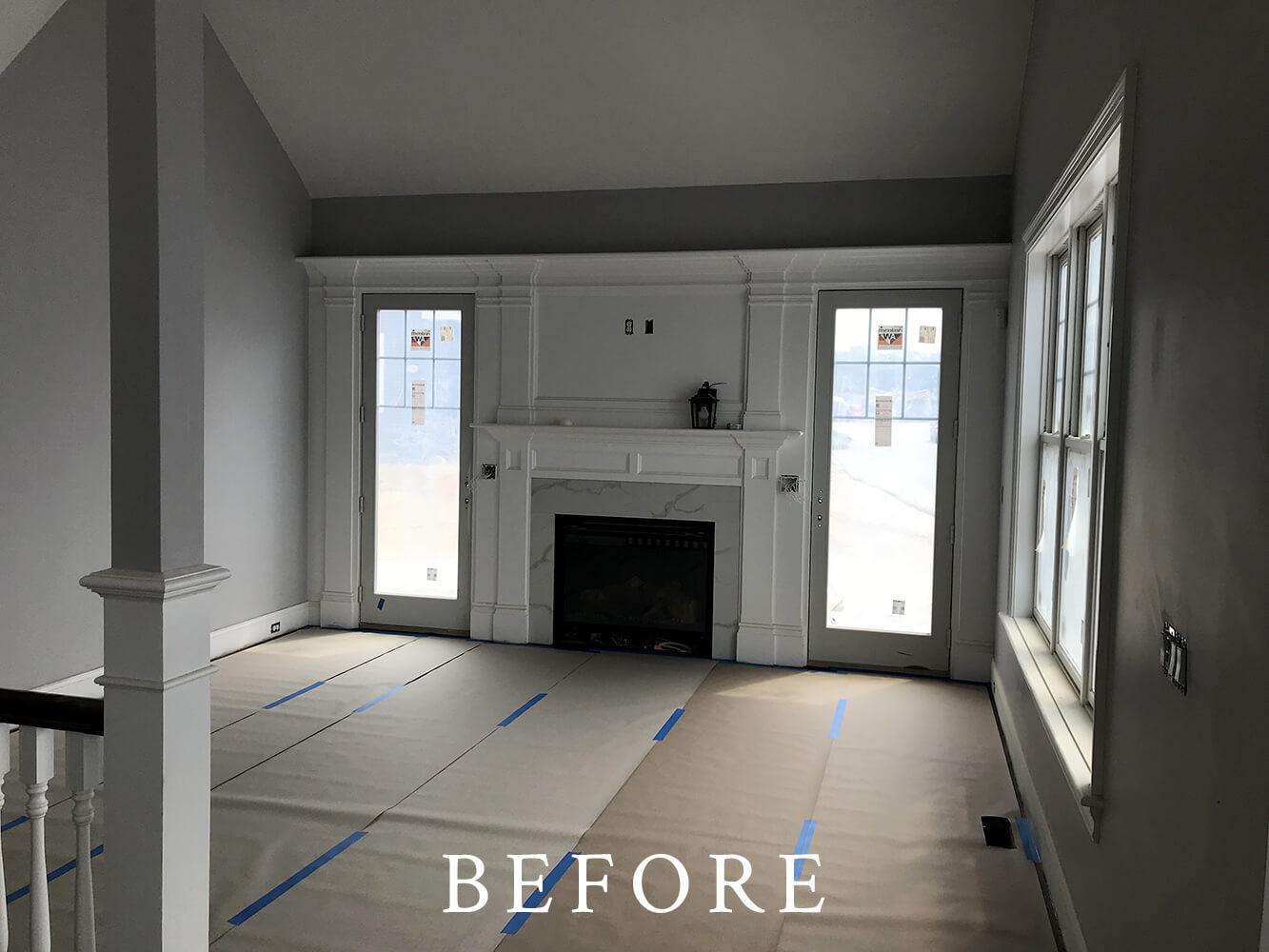 Model Home Staging - Living Room - Before