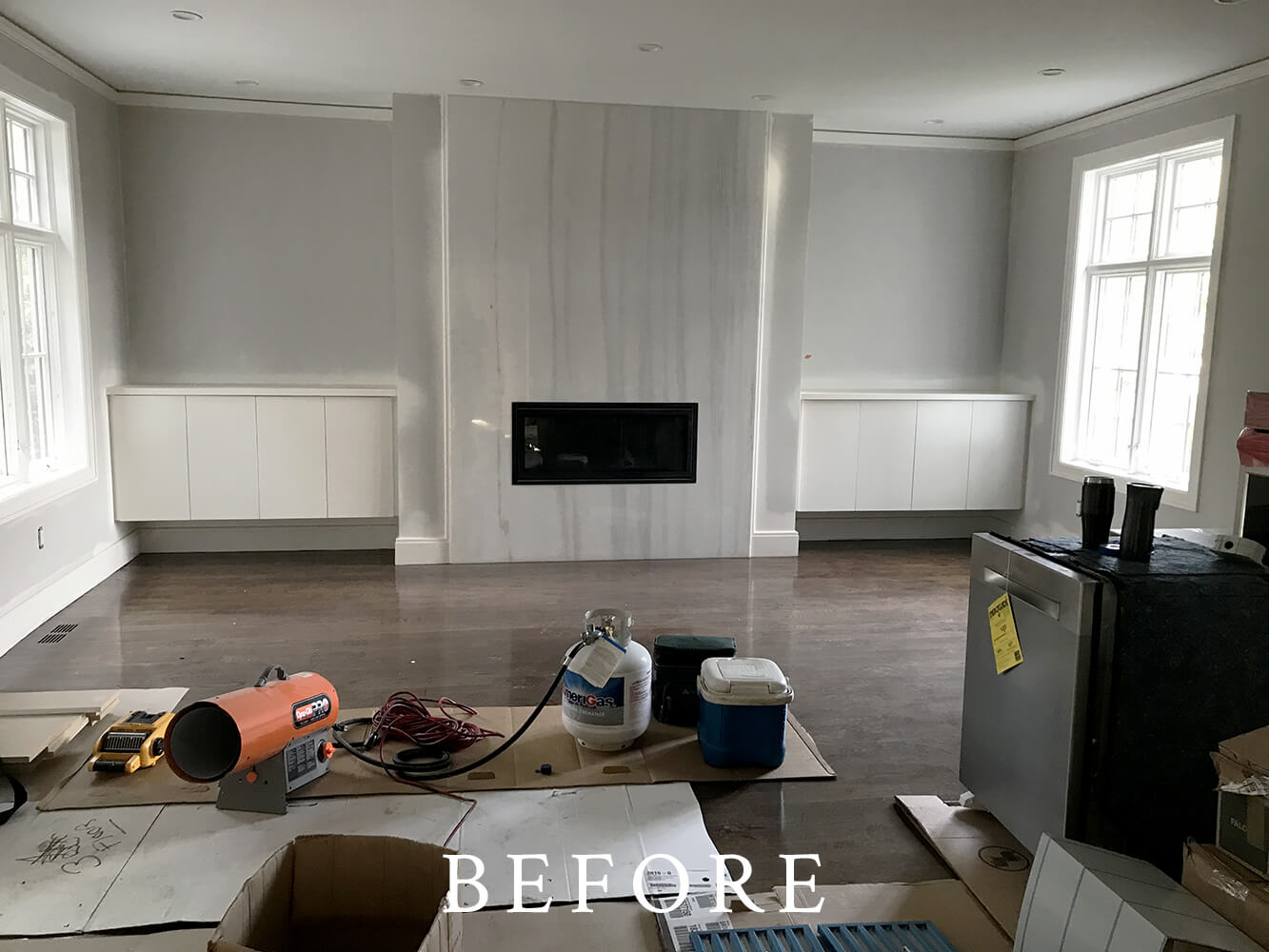 New Construction Staging - Before